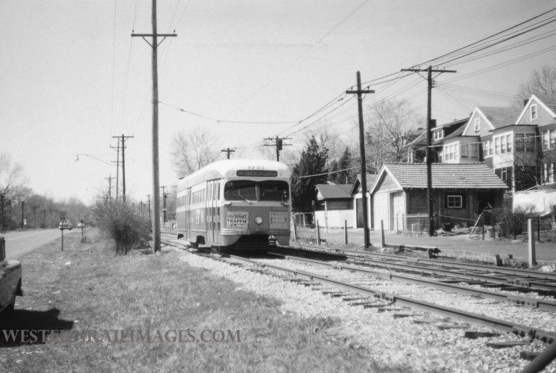 PSCO 188 - Mar 20 1957 - pcc car 1733 eb on line 14 University near Big Bend Loop - St Louis MO
