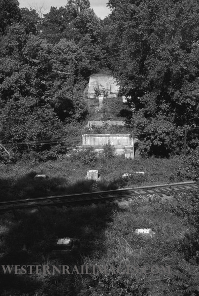 PSCO 204 - May 26 1957 - site of Fee Fee Creek bridge on Creme Coeur Line - St Louis MO