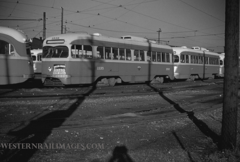 PSCO 70 - Mar 1 1955 - pcc car 1535 at S Broadway - St Louis MO