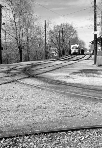 PSCO 195 - Mar 29 1957 - pcc car 1730 crossing Rock Island Bridge - St Louis MO