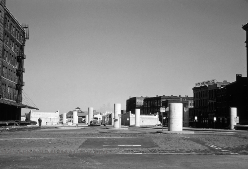 PSCO 233 - Feb 11 1958 - looking north on 3rd at Washington - St Louis MO
