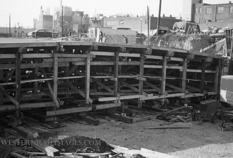 PSCO 147 - Mar 28 1956 - looking N at Grand & Market Construction - St Louis MO
