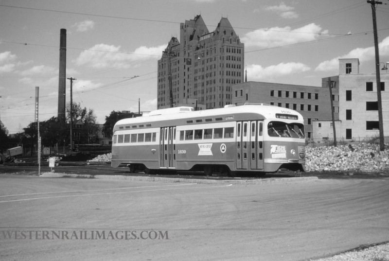 PSCO 31 - Oct 3 1954 - pcc car 1630 at Spring & Park yard - St Louis MO