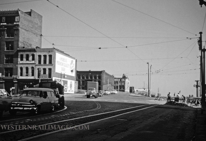 PSCO 173 - Sep 28 1956 - looking east at 3rd & Washington - St Louis MO