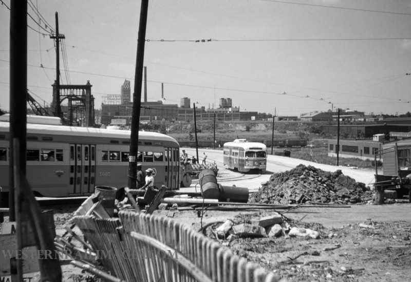 PSCO 123 - Jun 28 1955 - looking S at Grand & Market - St Louis MO