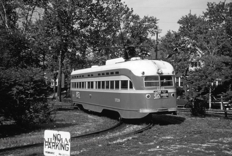 PSCO 48 - Oct 19 1954 - pcc no 172 at Big Bend Loop University Line - St Louis MO