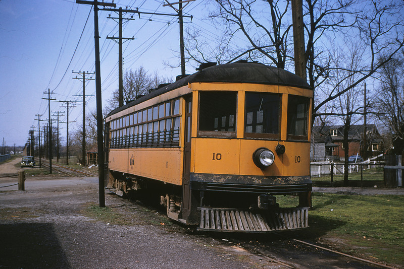 WWII 2 - Apr 5 1955 - Car 10 at Baden Station