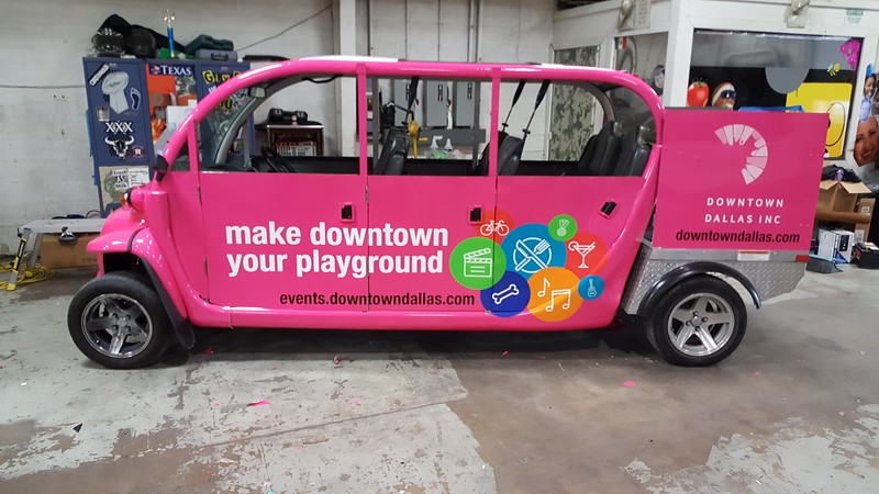 Downtown Dallas Events Efrogs transportation vehicle