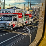 Two U-Haul Trucks, Lancaster Avenue, Number 10 Trolley