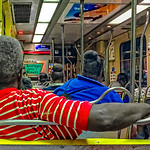 Red Shirt with White Stripes, Night Trolley
