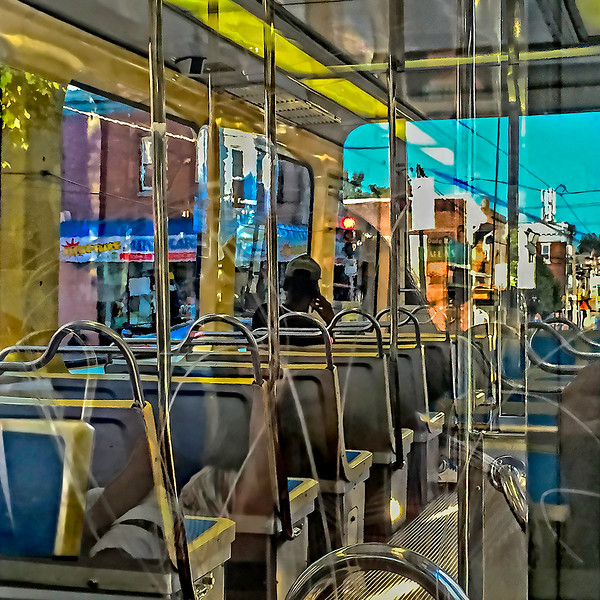 Blue Sky, One Trolley Passenger