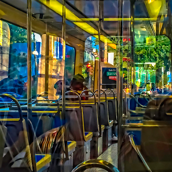 Trolley Interior Reflections