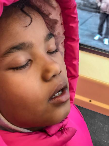 Yuri Trolley Sleeping