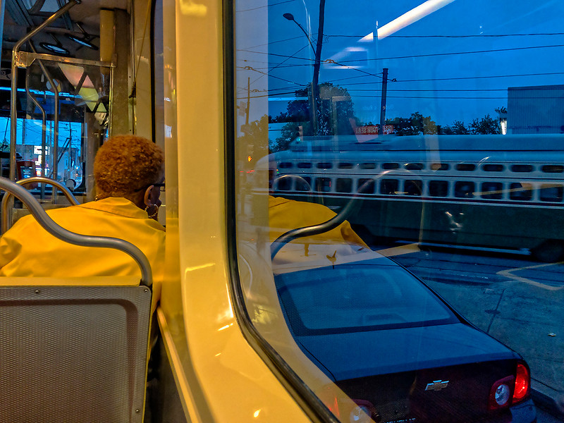 Two Trolleys, One Car, Evening