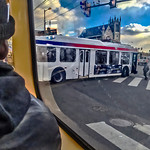 Turning Bus 52nd Street, No. 10 Trolley