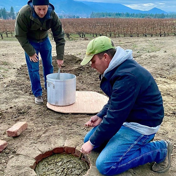 Making Biodynamic Barrel Compost