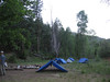 Our first night's camp - 9 more to go!