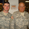 THIS IS A PROUD GRANDFATHER/GRANDSON TEAM!<br /> <br /> BE SURE TO CHECK THE AUGUST 26, 2007 - 1:30AM GALLERY FOR ADDITIONAL PHOTOS OF TROOPS FROM THIS FLIGHT.