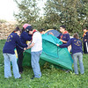 St.Julian's Scouts pitching their tent