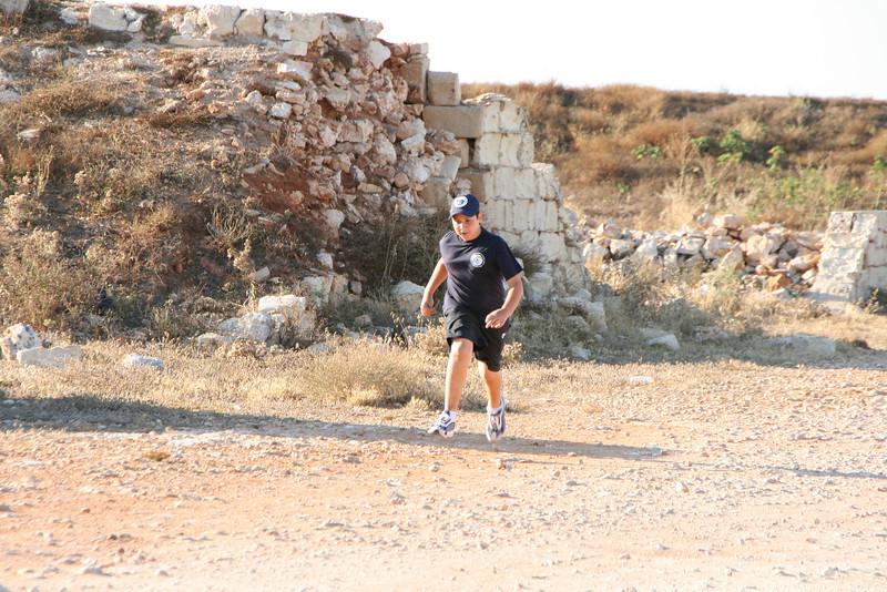 Zach runs to safety...