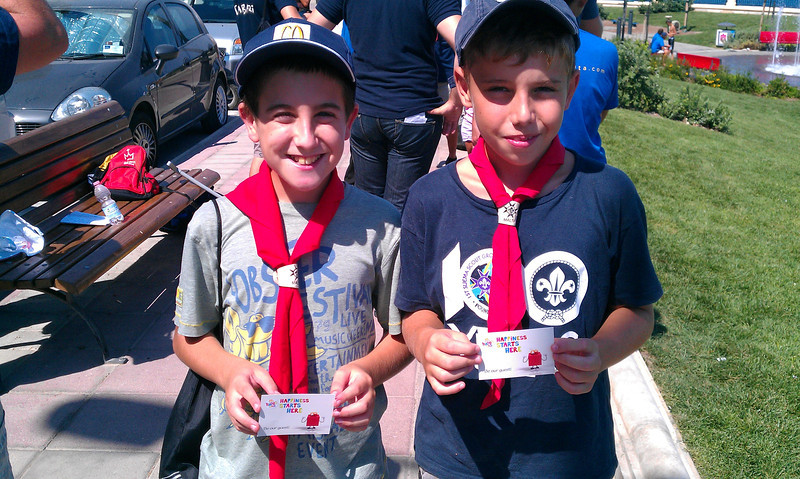 Stevie & Danny - two of the Scouts who attended the Clean up, happy with their Mac Donalds vouchers!!