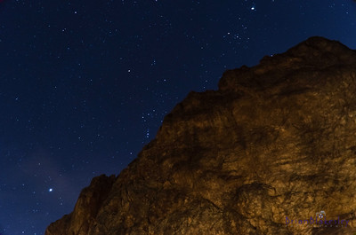 Orion Rising over Coon Bluff