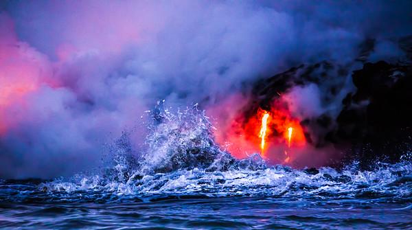 Big Island Lava Explosion