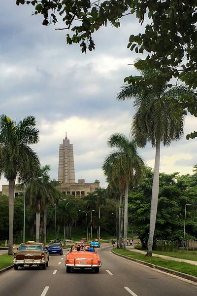 Driving Past Havana Square