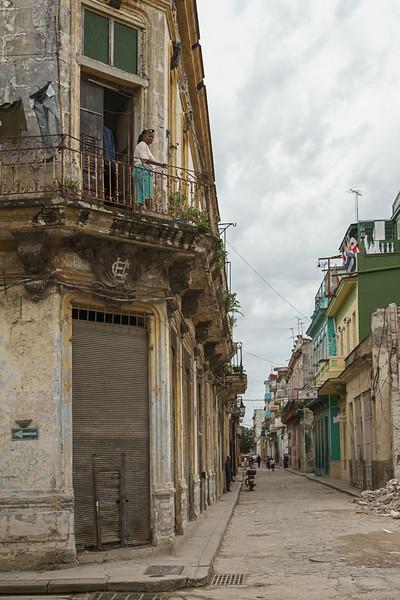 Havana Balcony Street Watcher