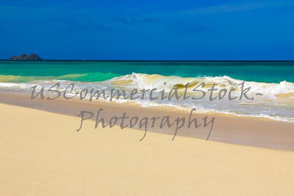 Beach with Wave Break