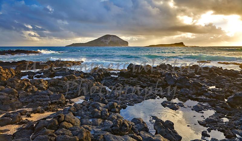 Ocean Shore Makapuu Point Rabbit Island Hawaii