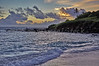 Sunrise fisherman ocean surf Kailua Hawaii