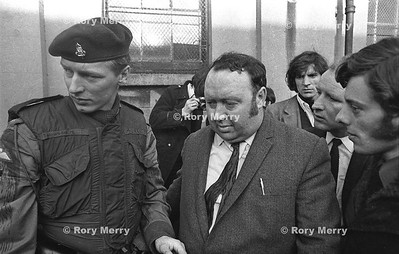 Paddy Devlin (8 March 1925 - 15 August 1999) was a Northern Irish social democrat and Labour activist, a former Stormont MP, a founder of the Social Democratic and Labour Party (SDLP) and a member of the 1974 Power Sharing Executive. Tries to help with a tense situation after a day or riots in Belfast Northern Ireland.