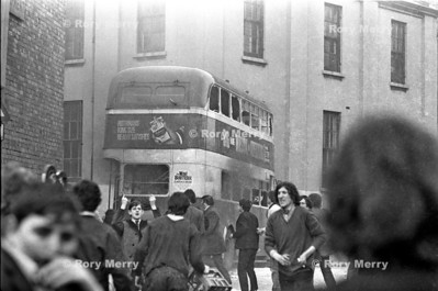 Northern Ireland Riot Action Bus Burning