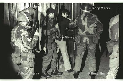 Northern Ireland Riots.  British Solders make an arrest during a riot.