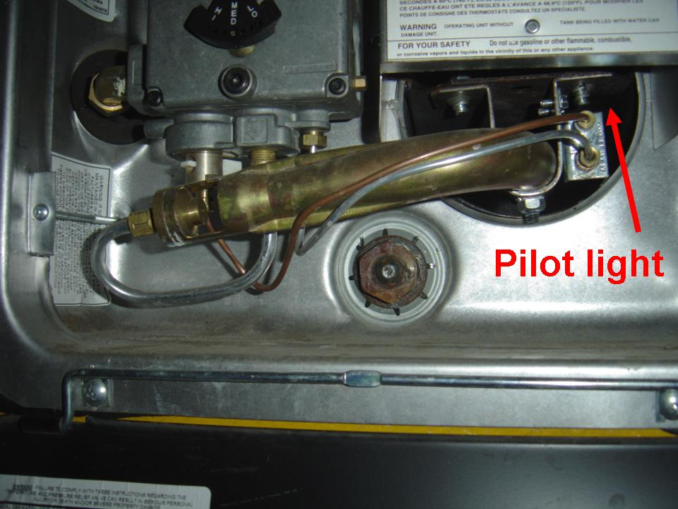 Q. Where is the pilot light?