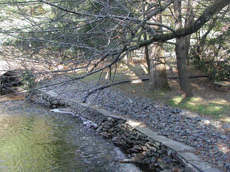 Trout Brook channel downstream bridge at North Main Street