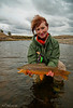 Susan Rockrise and brown trout- 2 perfect beauties