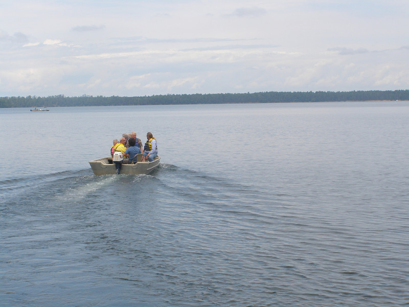 Visitors head out onto Trout Lake to learn more about how research is conducted on the water.