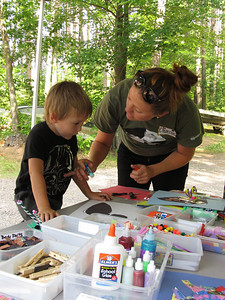 It is craft time for our youngest visitors!