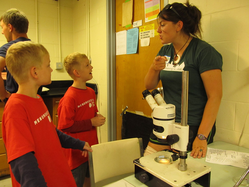 Grace Wilkinson from the University of Virginia shares the excitement of zooplankton with two budding scientists.