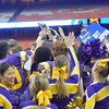 David M. Johnson - djohnson@digitalfirstmedia.com <br /> Troy High celebrates its state title victory against Lancaster in the NYSPHSAA Class AA Championship Sunday at the Carrier Dome in Syracuse.