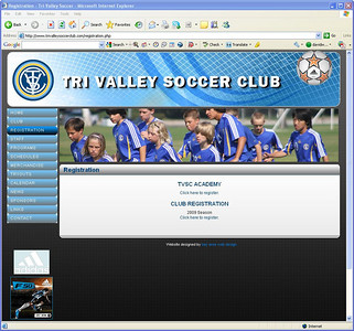 2009-08-31 Galaxy Featured On Tri Valley Web Site Banner