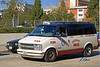 Taxi cab: Independent Cab Co., Chevrolet van taxi cab driving street. Los Angeles, CA 2004.