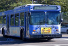 Municipal bus: New Flyer Heavy Duty, 35 ft Low Floor Bus, City of Santa Monica Route 2, traveling west on Le Conte, Los Angeles, CA 2004.