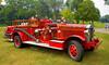 Fire engines, trucks, apparatus, historical: 1927 Gotfreson-Bickle pumper of Guelph, Ontario, Canada, now residing in Ypsilanti, Michigan. Fire apparatus Muster, Riverside Park, Ypsilanti, Michigan August 26, 2006