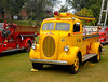 Fire engines, trucks, apparatus, historical: 1939 Ford forest fire truck, with ladder rack on top.  Fire apparatus Muster, Riverside Park, Ypsilanti, Michigan August 26, 2006