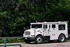 Armored truck on International 4700 truck chassis/frame, Groton, Massachusetts, 2007.