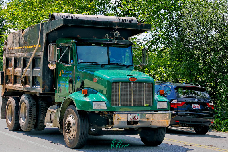 Peterbilt dump truck traveling empty. Groton, Massachusetts, Photo by Rob Carr. 2007.