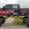 Ford Monster Truck with Custom designed wrap for The Back 9 Sports Bar and Shell Shack